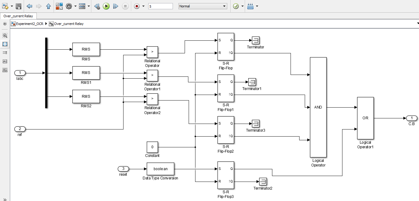 Overcurrent Relay Theoretical Concepts Design In Simulink Ee Circuit Tutorial Logic Diagram Of Instantaneous